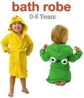 Cotton Boy girl child Animal cartoon  Baby bathrobe/baby hooded bath towel/kids bath  beach baby bathrobe Cloak cape