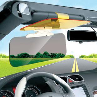 New car sunshade goggles auto sunglasses shield flip cover sun visor clip day & night Free Shipping(China (Mainland))