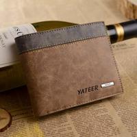 New men's short cross-section wallet short wallet purse Wallet