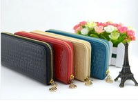 Hot Selling Women Genuine Leather Wallet,Day Clutches Fashion Zipper Wallets, The Purse Bag With Stone Pattern Free Shipping
