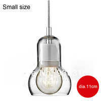 Free shipping (dia.11*16.5cm) Brief personalized big bulb pendant light small glass pendant light bar lighting