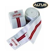 Red lines white altus elastic bandage broadened lengthen kneepad belt a pair of