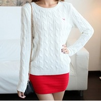 Fashion women's all-match o-neck pullover knitted sweater