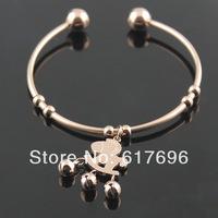 316L Titanium Steel Bracelets Bands Trojan Jingle Bells Bangles New Free Shipping