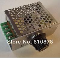 Free shipping,New 4000W 220V Adjustable SCR Voltage Regulator Motor Speed control Dimmer Voltage Thermostat