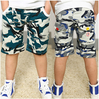 2014 summer new   cotton boy child camouflage half trousers military printed kids middle pants boy