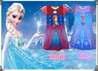 2014 Frozen dress Princess Elsa dress Anna dresses clothes Sets sofia Kids Summer Clothing set night gown
