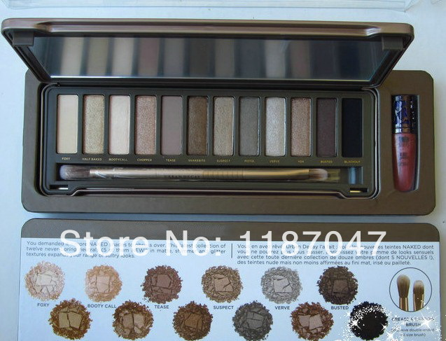 name brand makeup 1pcs/lot New 12 Color urban palette Eyeshadow Will Priming Potion !Free shipping(China (Mainland))