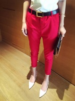 2014 summer casual all-match chiffon harem pants pencil pants belt k0224