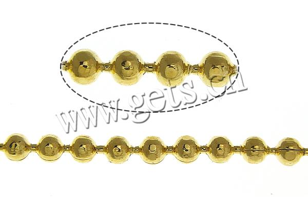 Free shipping!!!Brass Ball Chain,Costume jewelry, gold color plated, nickel, lead & cadmium free, 1.50mm, Length:100 m(China (Mainland))