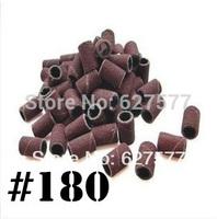 200 pcs Sanding Bands Drills Bits #180 UV Gel Acrylic Tips  Nail Art  Machine Tools