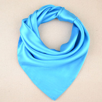 Autumn and winter solid color silk scarf male women's silk scarf plain work wear small facecloth