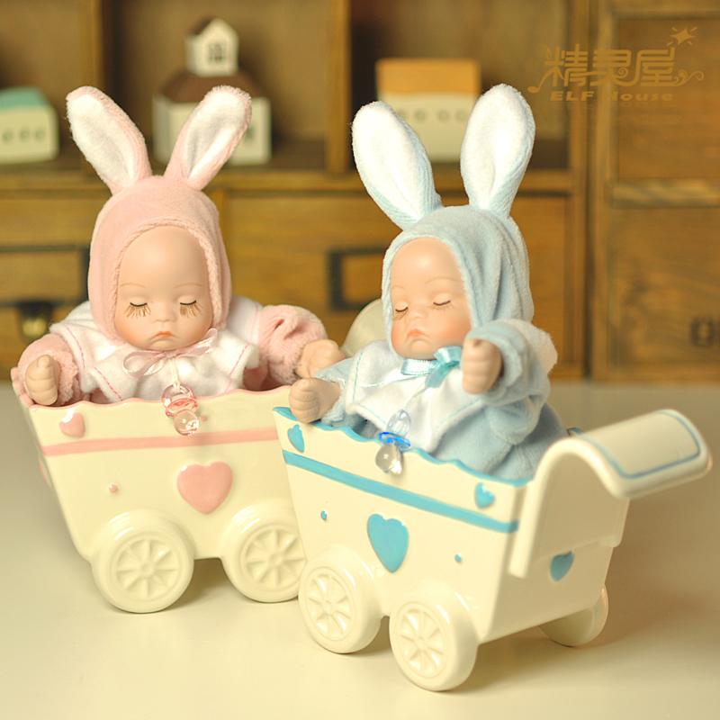 Moda Presente de aniversário do carrinho caixa de música caixa de música bobble cabeça da boneca mel meninas(China (Mainland))