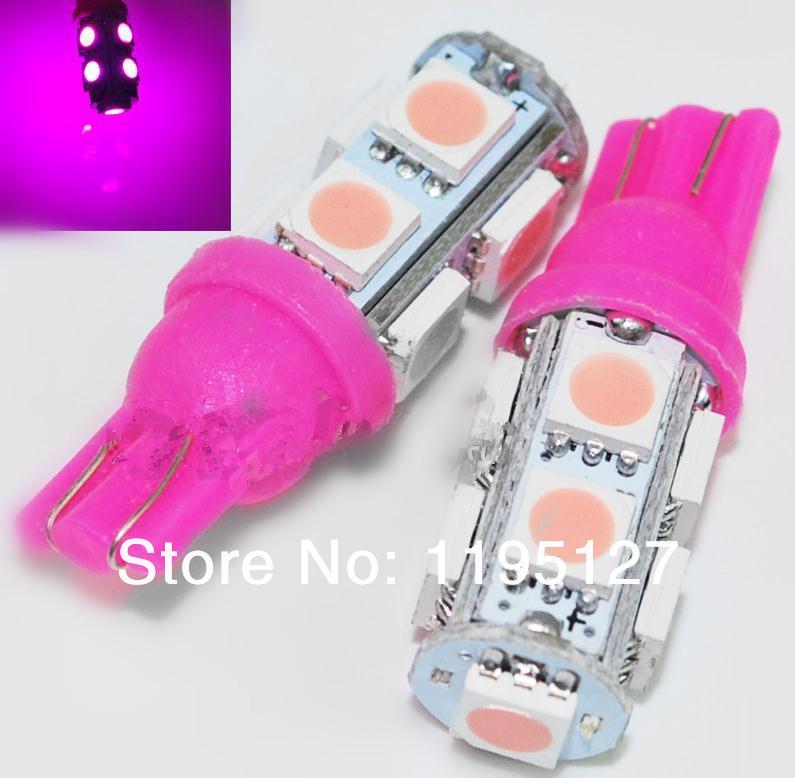 10Pcs/Lot Free Shipping Bright New Car Light DC 12V 5050 T10 9 SMD Signal Light Dome Light 194 168 Car Auto bulb LED Brake Light(China (Mainland))