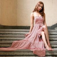 Sexy tube top asymmetrical wedding 16782 one-piece dress