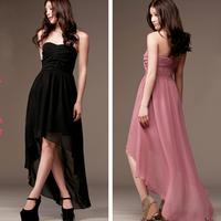 Elegant ruffle chiffon one-piece dress 118539