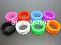 280pcs Mix 14 Gauges 3-26mm New Multicolor Flexible Silicone Flesh Tunnel Ear Stretcher Expander Plug Body Piercing Jewelry
