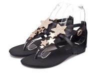women buckle flip flops open toe sandals flats sandles summer flat sandals ladies' black Roman sandals rhinestone  red30