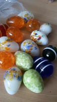 Hot!Crafts Colored glass balls 2.9cm-4cm ball glass aquarium vase fish tank decorative marbles checkers child Ball10 pieces/pack