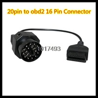 20pin to 16 Pin Connector 20 PIN to OBD OBD2 OBDII 16 PIN Female Car Diagnostic Scanner Adapter Connector Cable