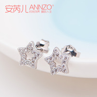 Free shipping high quality Stud earring 925 pure silver 18k gold female fashion pure silver jewelry pure silver earrings