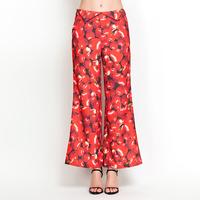 YIGELILA 827-G Ladies Europe Style Apple Print Wide Leg Pants Flare Pants Free Shipping