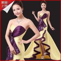 2014 tube top the bride long design formal dress evening dress evening dress bride dress