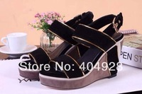 2014 wedge guaranteed 100% genuine wholesale and retail fashion women shoes sandal slippers