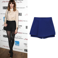 Summer fashion women's 2014 shorts casual all-match single-shorts plus size pants ruffle skirt short culottes