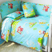100% cotton baby bedding set piece baby bed around unpick and wash cotton