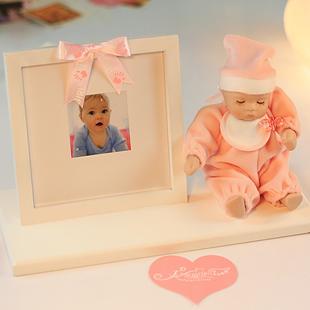 lã photo frame cerâmica bobble cabeça da boneca caixa de música caixa de música presente de aniversário presente(China (Mainland))