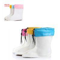 Winter child rain boots liner child rainboots plus cotton wool thermal boots rainboots liner