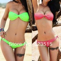 2014 New Arrival Hot Womens Sexy Padded Bra Bikini Suit Swimsuit Swimwear Bathing Bandeau 2 pcs
