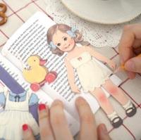 Wholesale,(1 Lot=48 Pcs) DIY Scrapbooking Envelopes Creative Handmade Cute Curly Doll Diary Decoration Paper