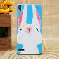 Free shipping hot selling cat case new arrival huawei ascend p6 plastic phone case for huawei p6 back case