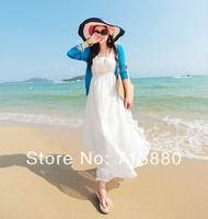 Hot sale women Bohemian V-Neck dress big pendulum dress Summer seaside  necessities free shipping
