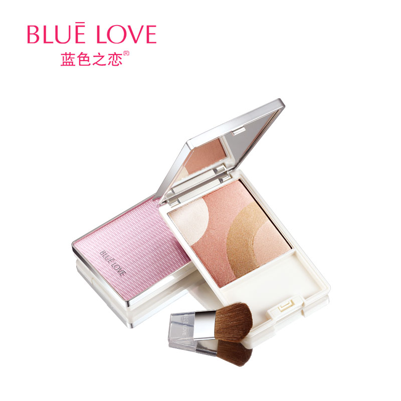 Blue love perfect match trimming blush beautiful blusher moisturizing beauty(China (Mainland))