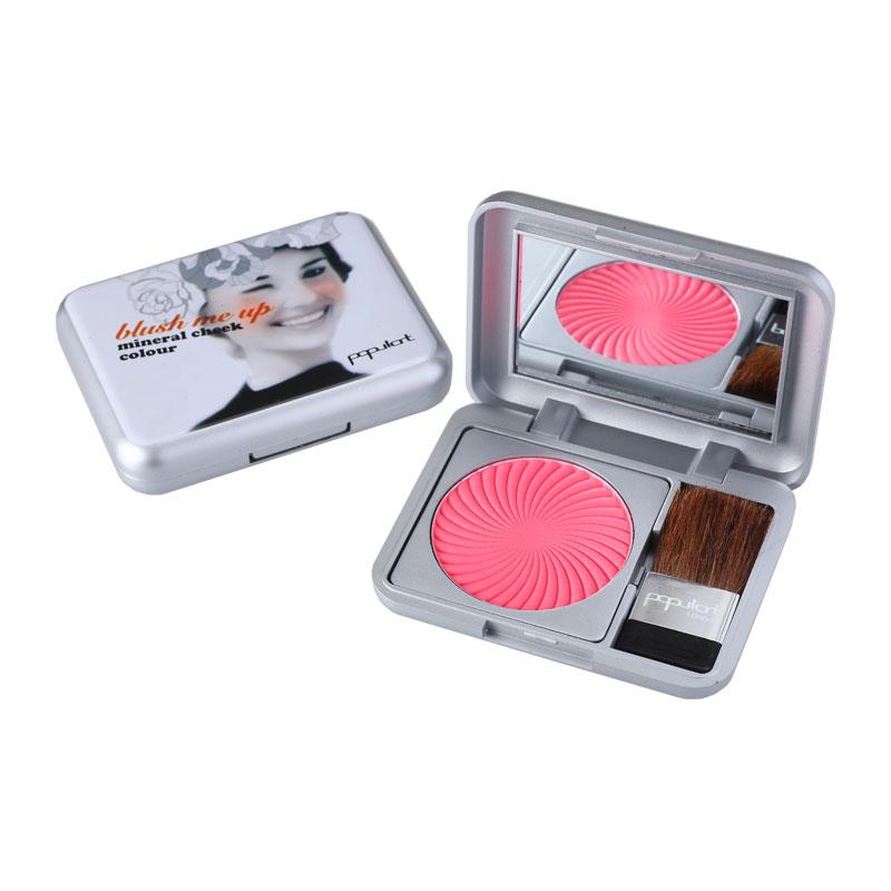 Blush make-up smiley 3d mineral cheek color durable 3.6g natural three-dimensional blusher red envelope(China (Mainland))
