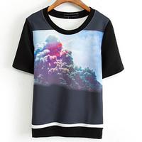 Fashion female short-sleeve T-shirt