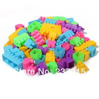 80Pcs Building Blocks Children Kids  Educational Block Animal Plastic Toy Free Shipping