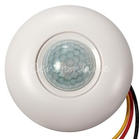 Free Shipping 120 Degree Sensor Detector Automatic Light Lamp Switch Flush PIR Ceiling Occupancy Motion Ceiling mounting