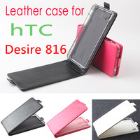 Free shipping high quality PU flip leather case cover for HTC Desire 816 mobile phone, shell housing for HTC Desire 816
