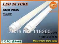 FedEx Free Shipping 10PCS/Lot Wholesale 1200mm 20W T8 LED Tube Lamp Light Top Quality SMD 2835 Epistar 2000LM CE & RoHs
