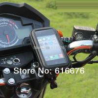 Waterproof Bike Motorcycle Phone Case Cover  Bag  Handlebar Mount Holder  For Samsung S4 IV i9500 Note 3 N9000 iPhone 5 5S 5C