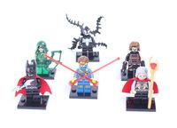2014 6PCS(SET) Super heros  Minifigures Figure toys batman  spiderman odin kids building brick toys