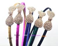 5 color Mix New Girl Rhinestone Hair Bands Princess Elastic Headband Women Hair Accessories Girl Headwear 10pcs / lot