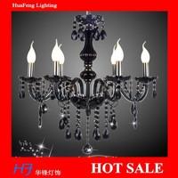 BLACK  Crystal chandelier 6 lights lamps  chandeliers lamps crystal chandelier lustre lamp led lamp