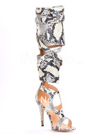 buying agent!! r sexy snake skin women cut out pumps peep toe high thin heel female shoes women' best choice
