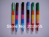 Large wholesale 6 or 12 colors  stacking wax crayon  ,Promotional Pen,100% Free  Shipping Freight, fast delivery by DHL or FEDEX