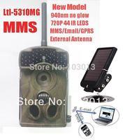 ltl acorn 5310MG No Glow External Antenna 12MP HD MMS GPRS infrared hunting camera GSM game scouting trail camera +Solar charger
